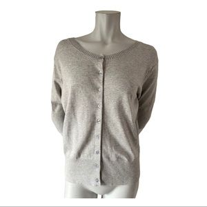 Danier Grey Short Sleeved Cardigan Size Large